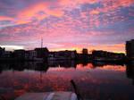 Morning sunrise over the river