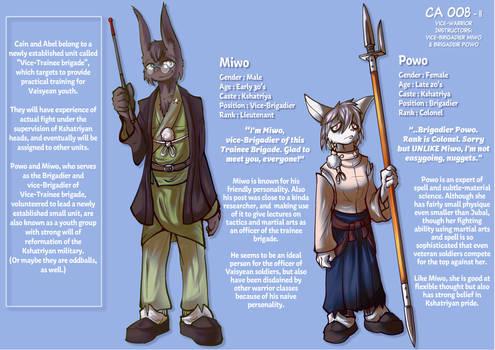 CA008ii - Vice-Warrior instructors: Milo and Powo by Lo-Mlatu