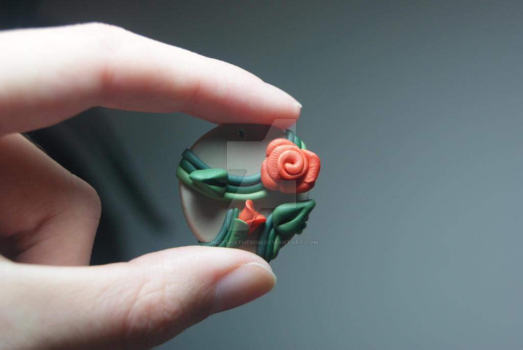 Climbing Orange Rose by Inuyshathebom