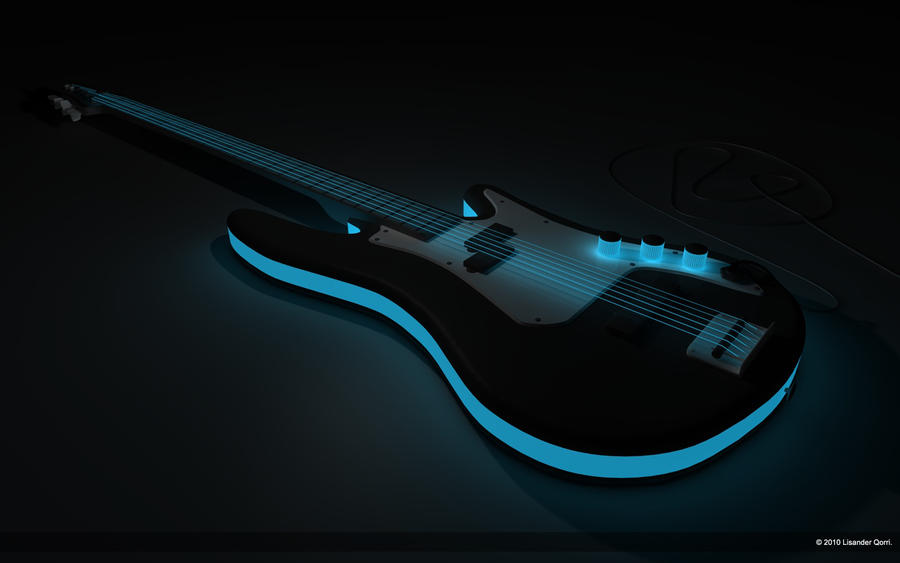 black neon electric guitar - photo #19