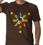 philippine map with 3 stars t-