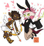 The cupid, the bunny magician