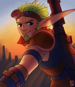 Jak From Jak and Daxter by aketan