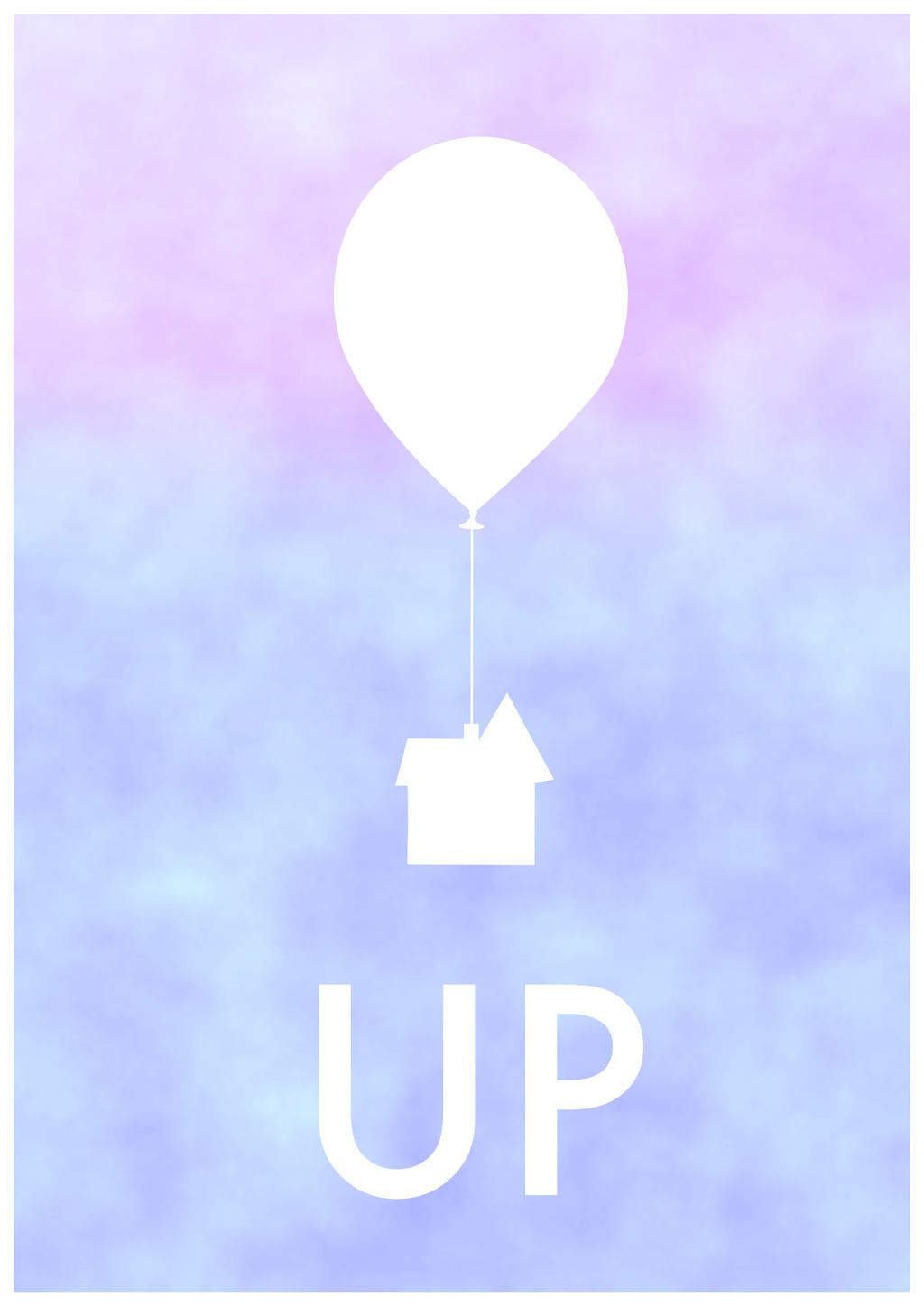 Up minimal poster by cw posters on deviantart for Minimal art kunstwerke