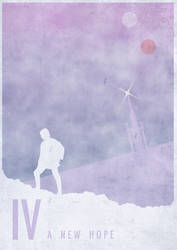 Episode IV : A new hope minimal poster by CW-Posters