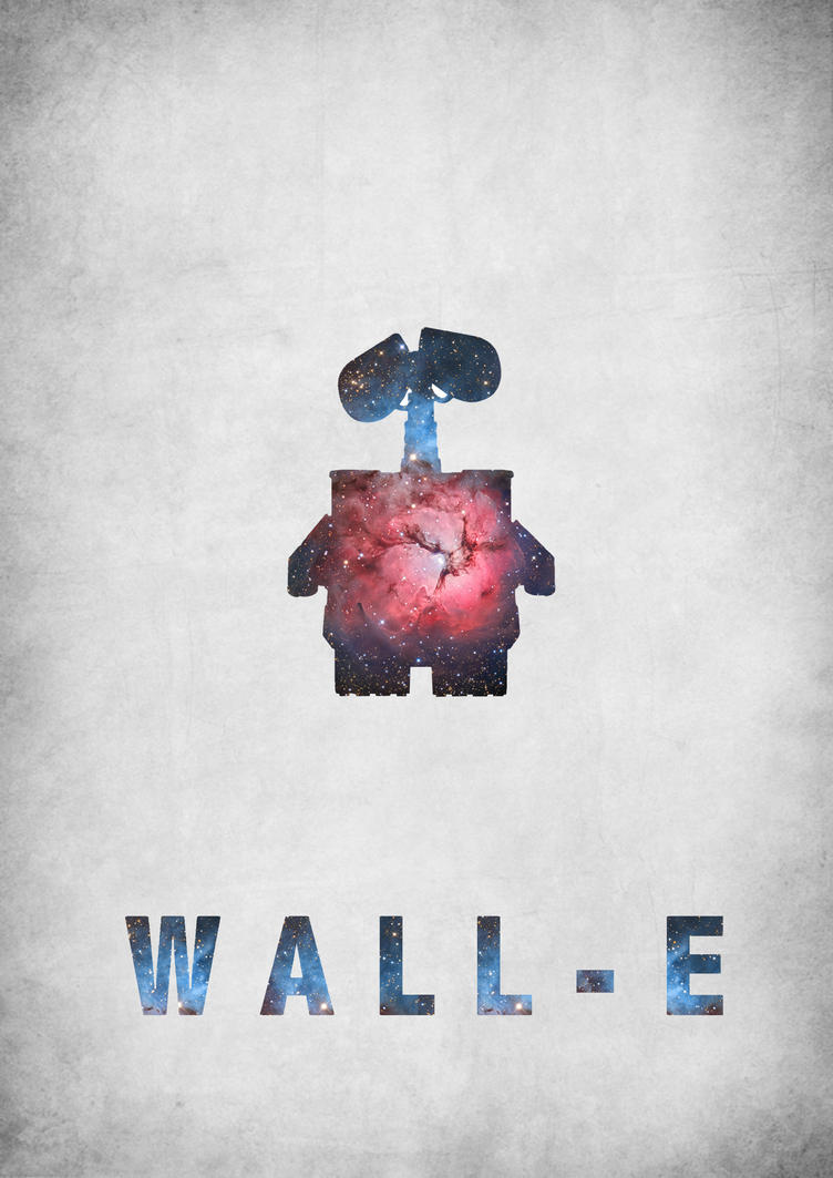 Wall e minimalist poster by cw posters on deviantart for Minimal art wall