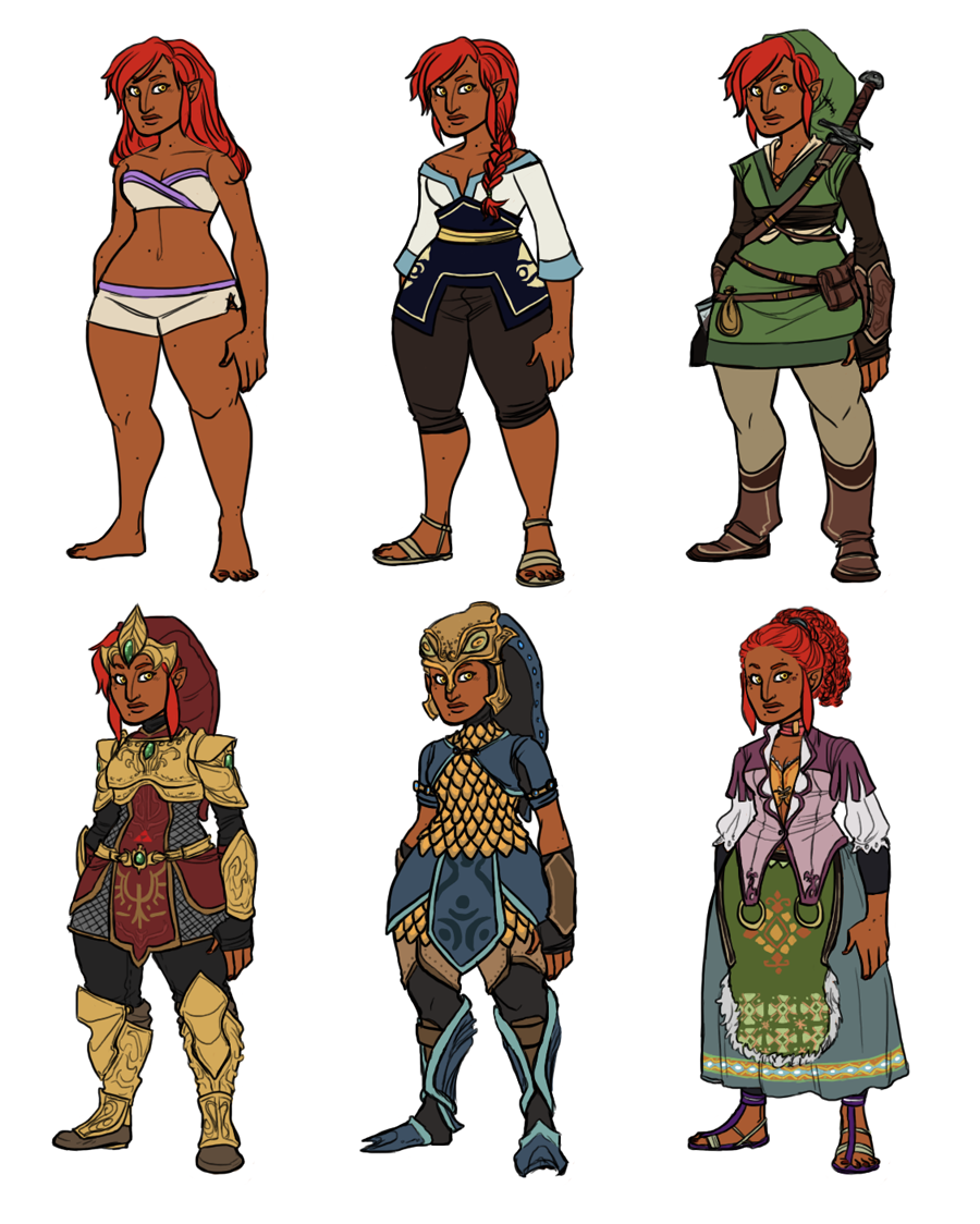 Gerudo Link Designs by HyperBali on DeviantArt