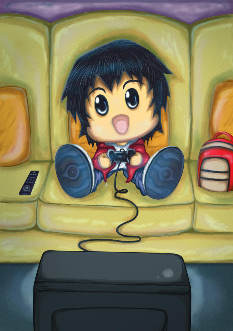 Chibi Gamer by Rockster2000