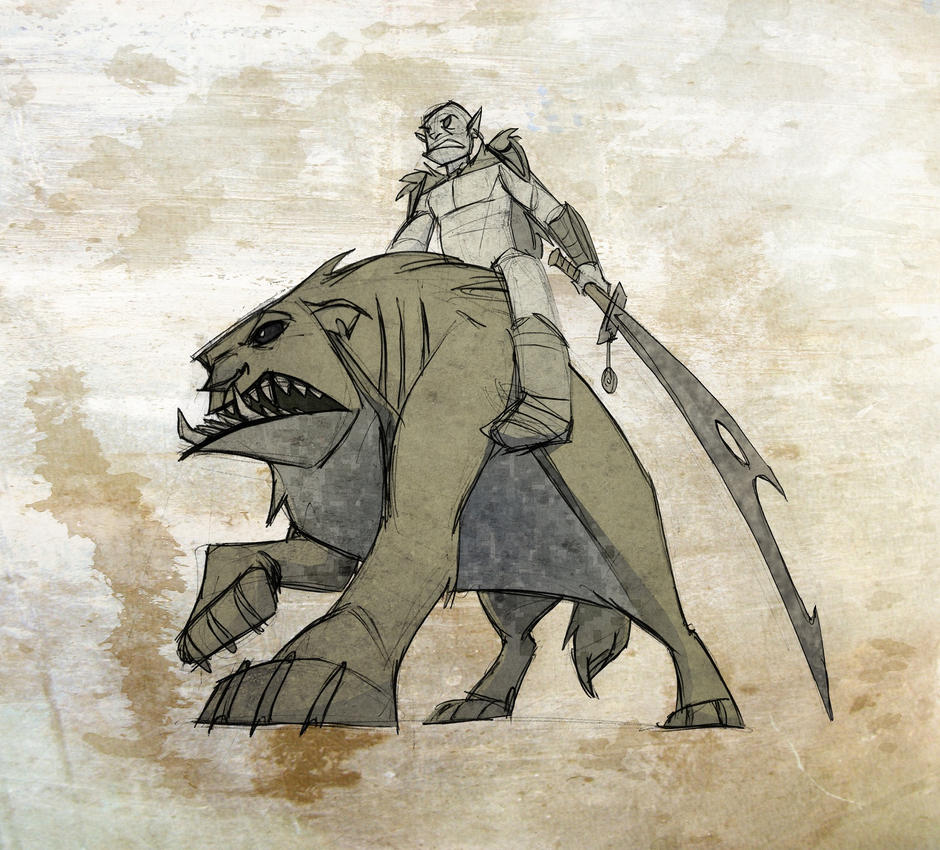 Warg rider by enolianslave on DeviantArt Warg Riders Drawings