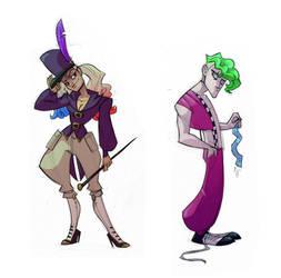circus harley and joker by enolianslave