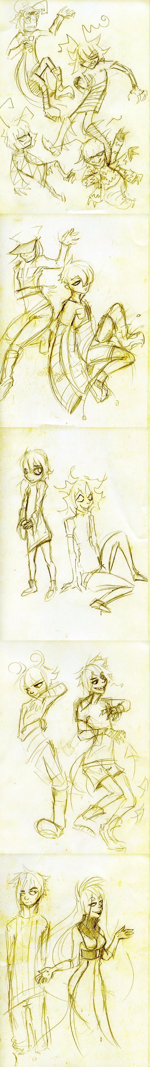 mini sketch dump by bergrimlo