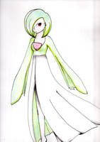 Gardevoir human by PokePonyloid