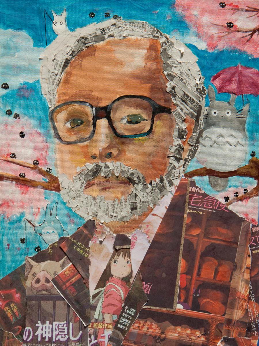 Hayao Miyazaki by lxoivaeh