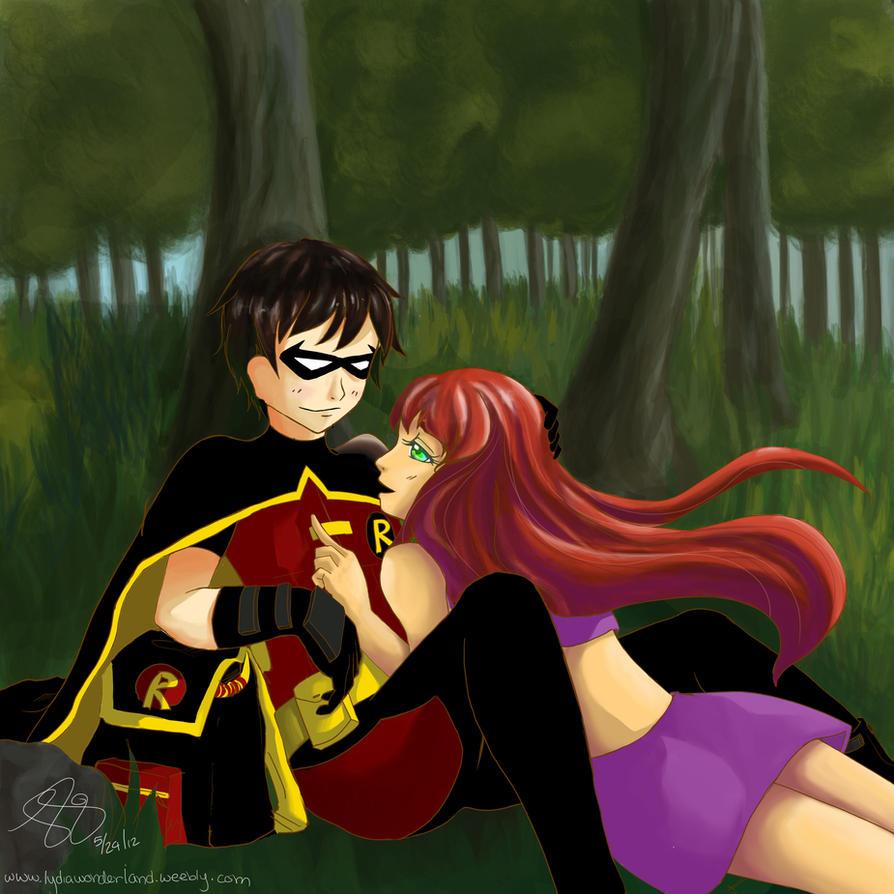 Robin and starfire