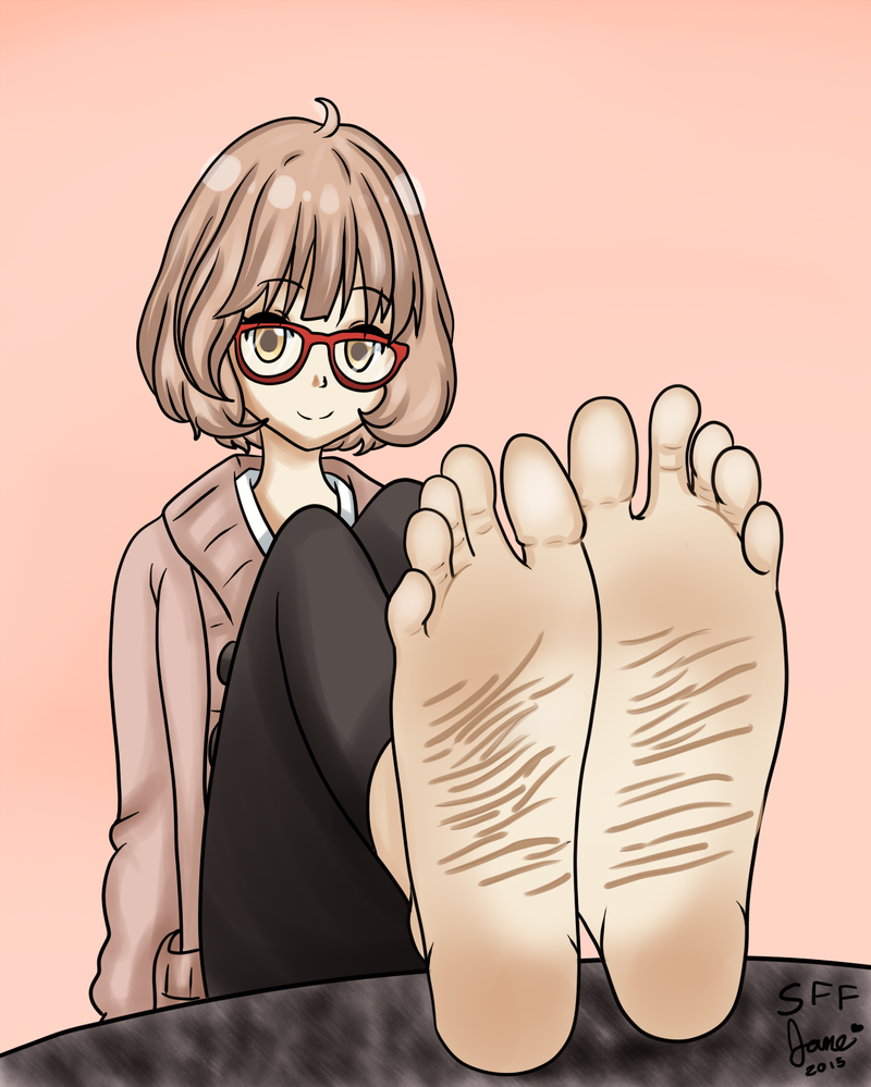 Anime Characters That Are 5 Feet : Mirai kuriyama s feet pov by soleful jane on deviantart