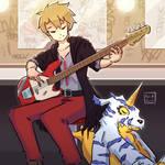 Yamatto and Gabumon | Commission