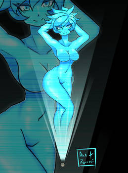 CLOSED- ADOPTABLE AUCTION #4 Hologram Girl