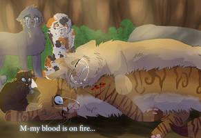 Honeyfern's Death (+Speedpaint) by WarriorCat3042