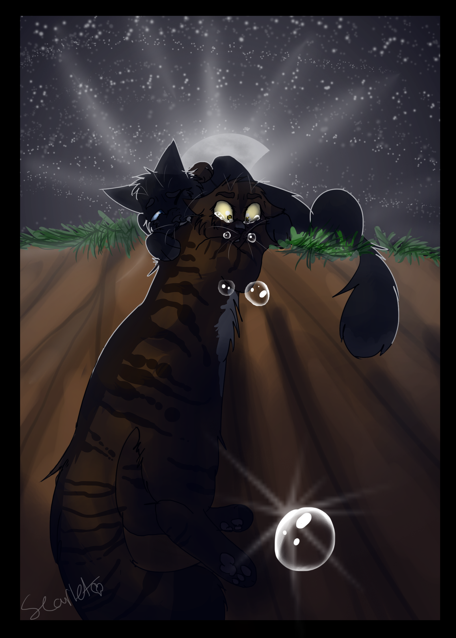 crowfeather and leafpool by warriorcat3042 on deviantart