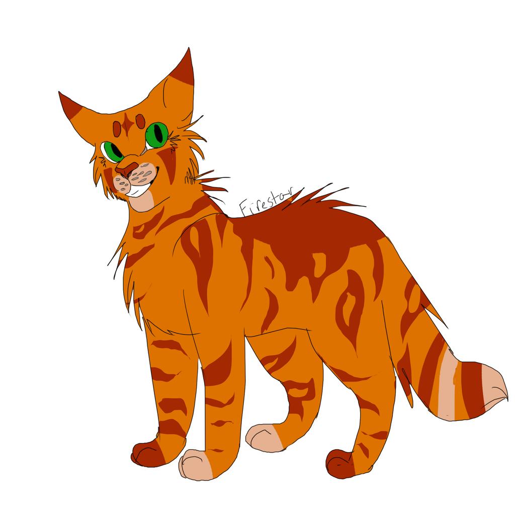 Firestar (Ref) by WarriorCat3042 on DeviantArt Warrior Cat Drawings Firestar