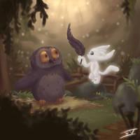 Ori and Kuro's Owlet by Jopilatje