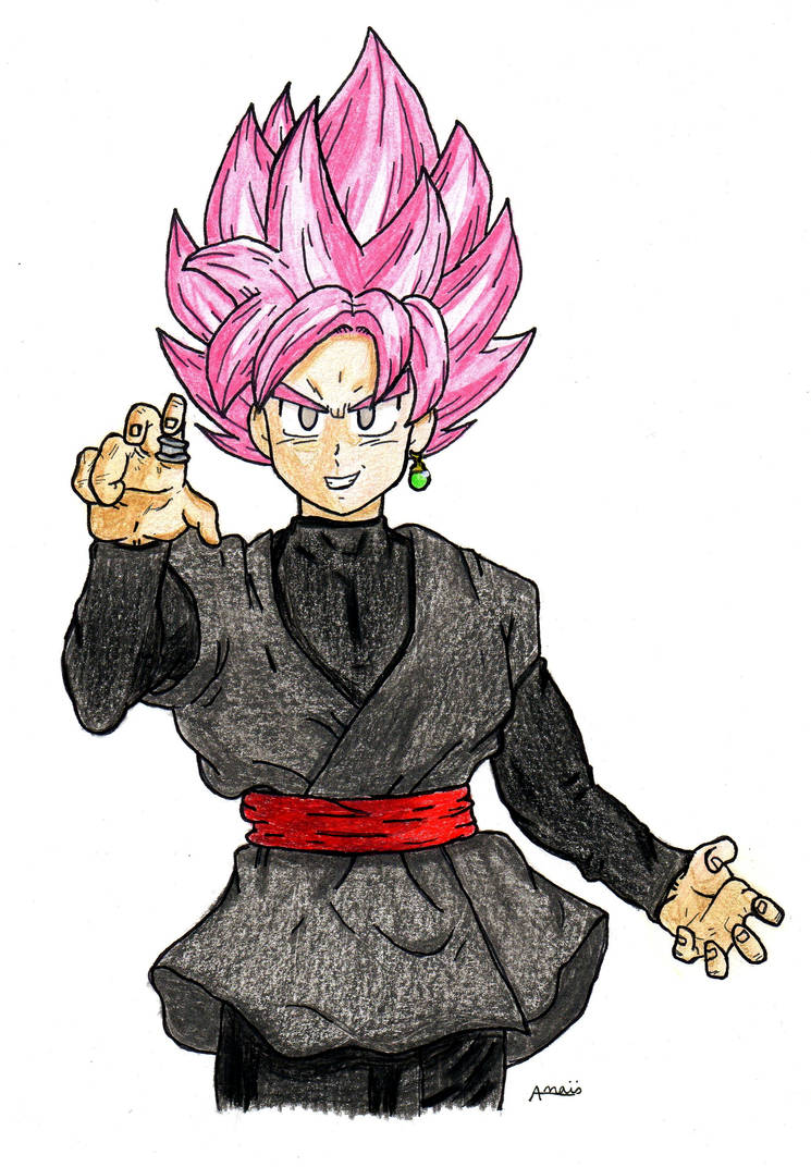 goku black rose by coookiegirl7 on deviantart
