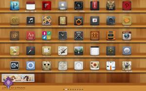 Desktop with XLaunchpad by zhiji by xwidgetsoft