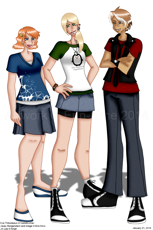 Eve, Jacey, and Jin by erin-hime