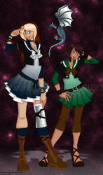 Sailor Chione and Demeter