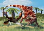 Concavenator and Pelecanimimus