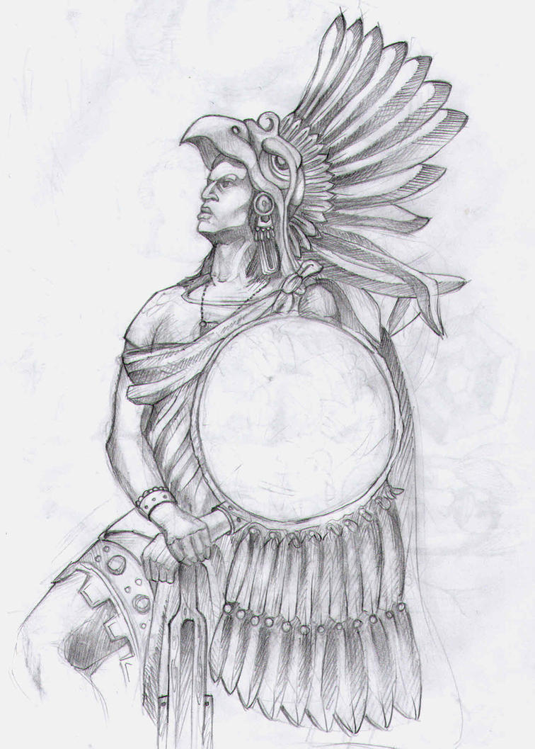 Aztec Warrior Head Drawing Images amp Pictures Becuo