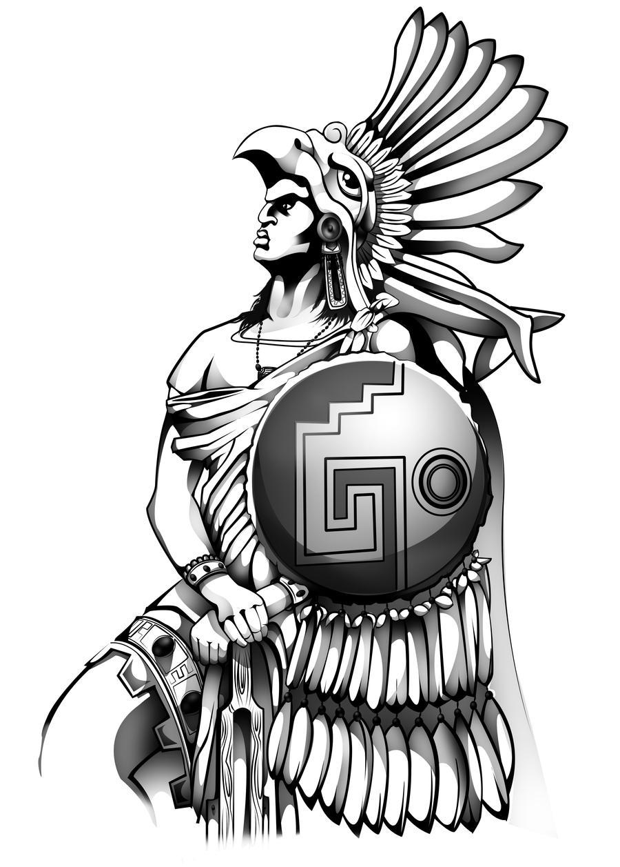Aztec Warrior Drawings...