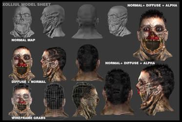 Zombie head model sheet by GDSWorld