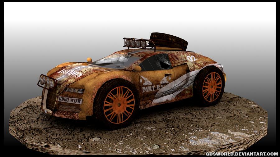 Rusty Bugatti Veyron 3d model by GDSWorld