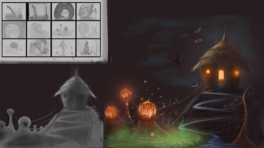 CW: Pumpkin Ville WIP by GDSWorld