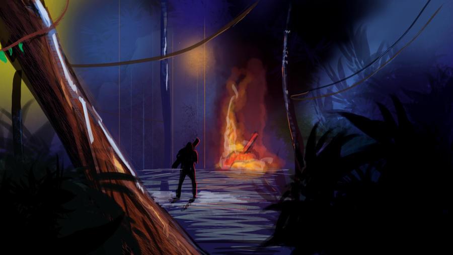 Night War City 40 min speed painting by GDSWorld