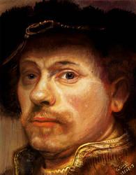 Rembrandt self portrait study by GDSWorld