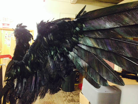 CAW wings Large OPEN front animatronic cable op