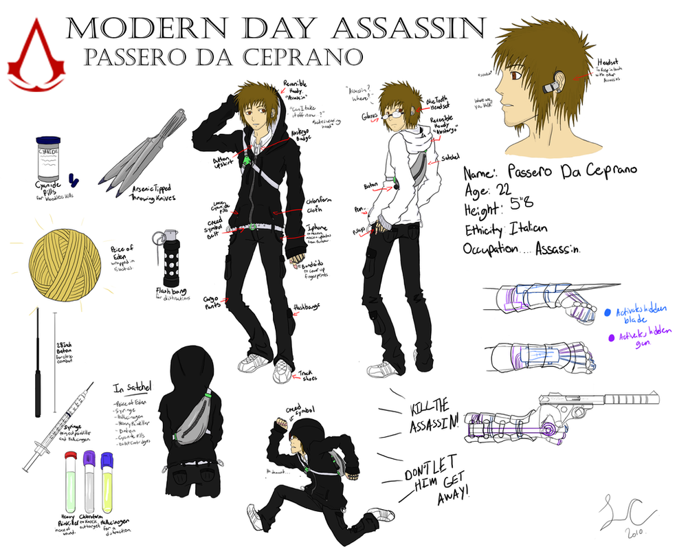Modern Day Assassin. by zabuza13cola