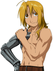 Ed Edward Elric Shirtless Render