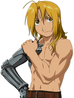 Ed Edward Elric Shirtless Render by emakcolo