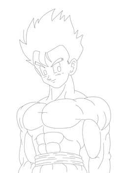Gohan Shirtless LineArt