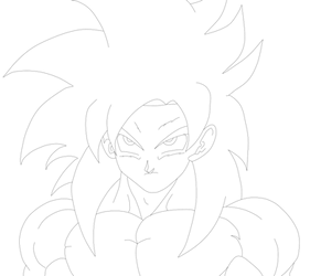 Goku SSJ4 Lineart