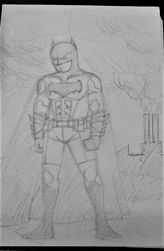 Batman sketch by nizebelami