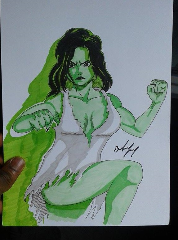 She-Hulk by nizebelami