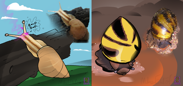 Snails by MrCanisSkulltail