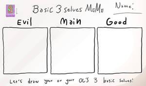 Basic 3 selves meme