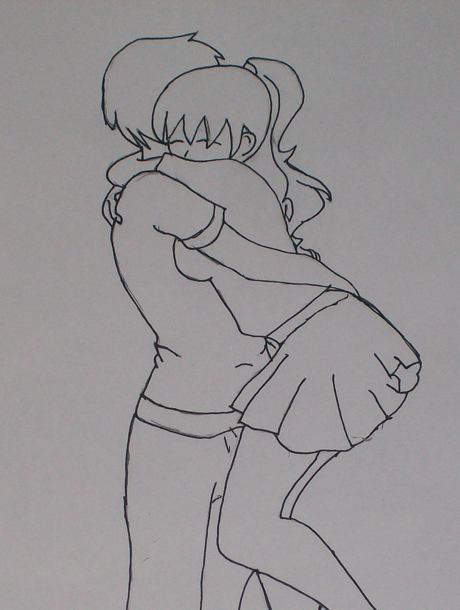 Pics For > Lovers Hugging Drawing