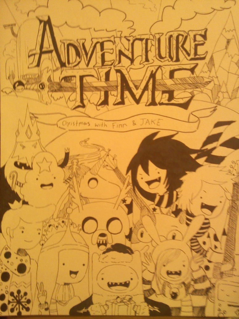 ADVENTURE TIME CHRISTMAS! by imagex-animestar