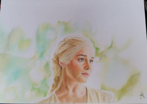 Emila Clarke as Daenerys Targaryen Drawing